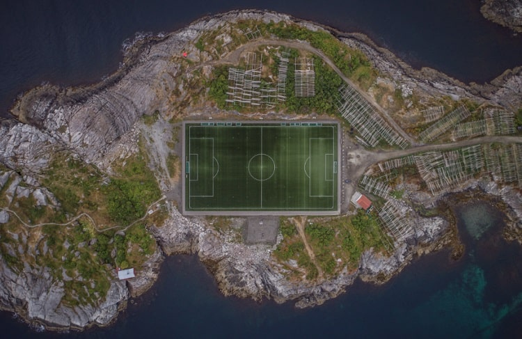 Stadium in the sea