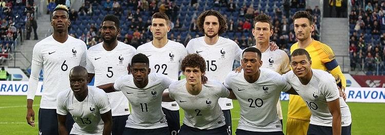 Les Bleus de l'équipe de France 2018.