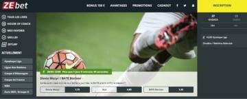 Page d'accueil de ZEBet