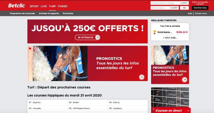 betclic site pari hippique