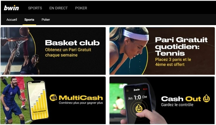 Promotion Bwin site de paris sportifs