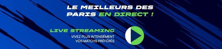 option live streaming disponible sur parions sport