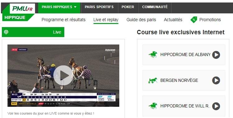 PMU live site de paris sportifs