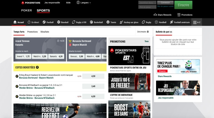 interface site betstars