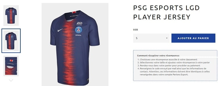 Maillot PSG esport