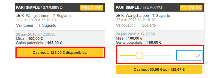 Cash out Winamax