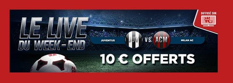 Live du weekend Winamax 10 € paris gratuits