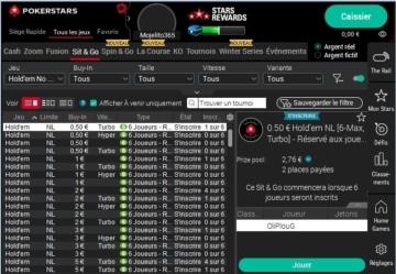 capture d'écran logiciel pokerstars