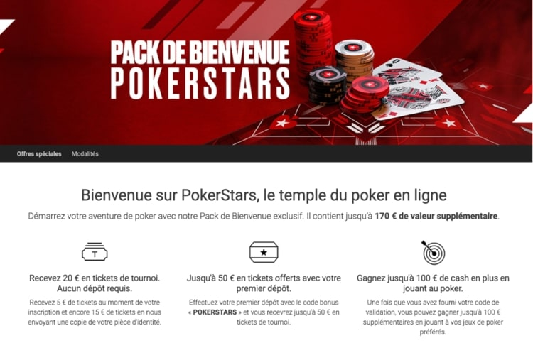 pack bienvenue pokerstars