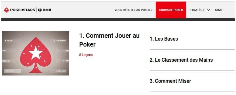 vidéos apprentissage poker pokerstars