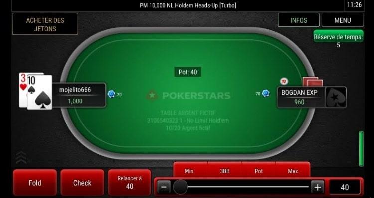 app web pokerstars aperçu