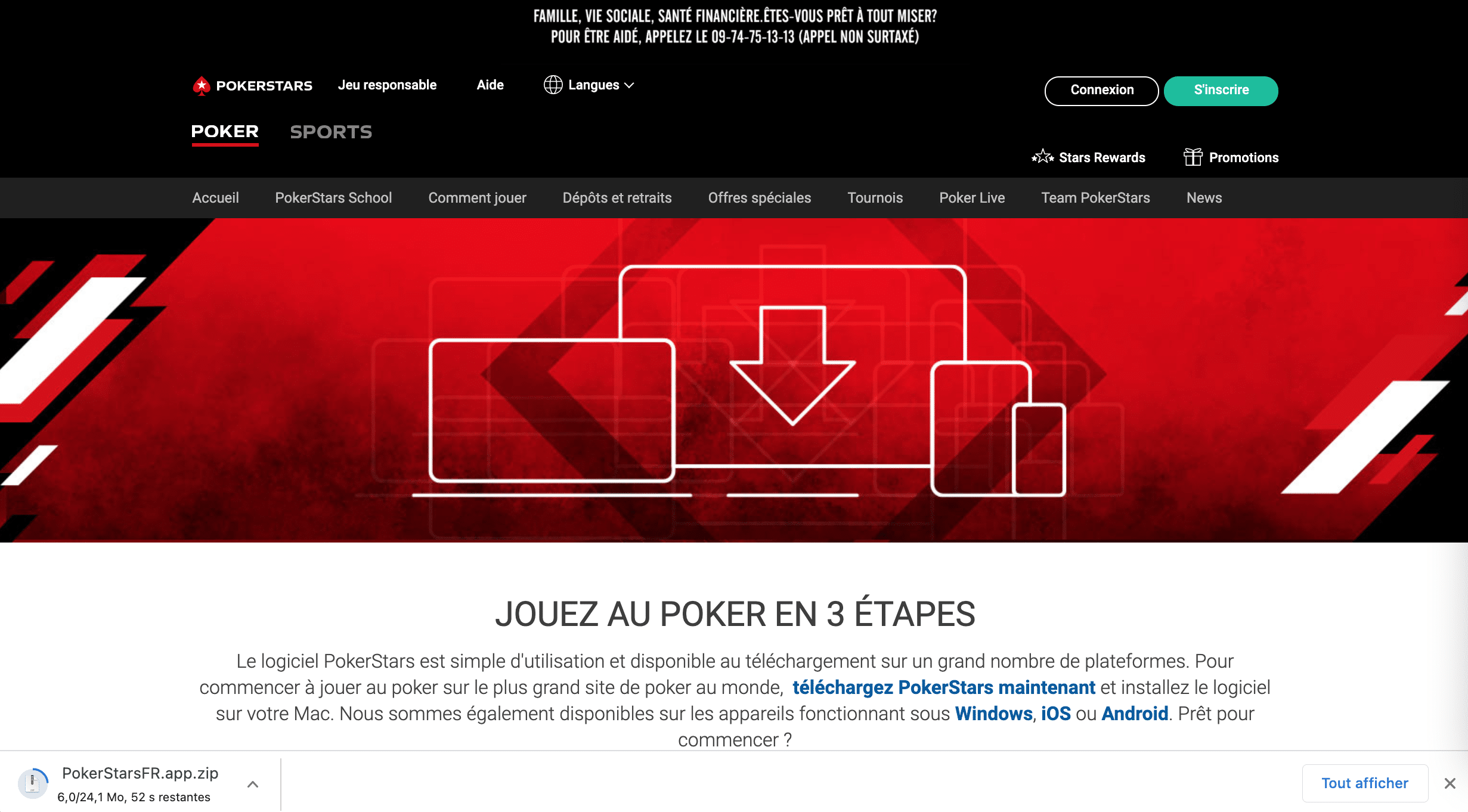 téléchargement pokerstars