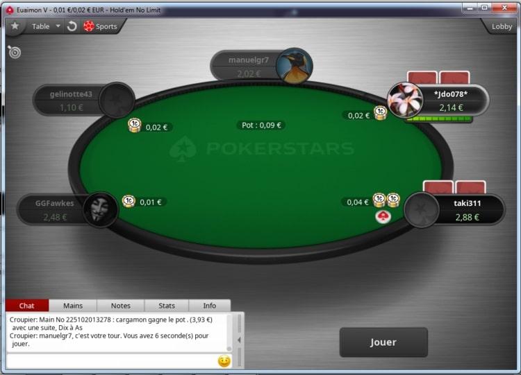 aperçu tournoi live pokerstars