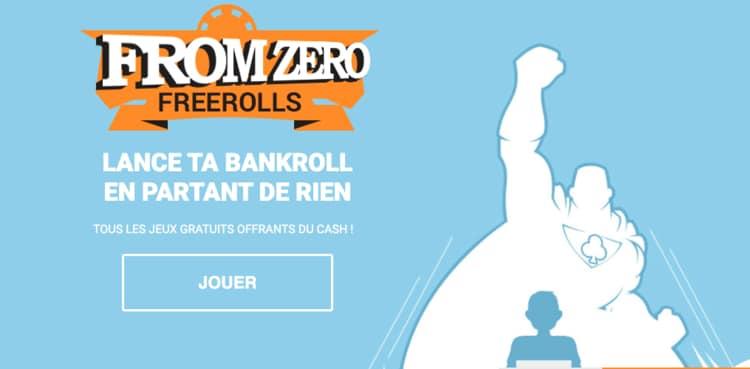 """Offre """"From Zero"""" Freerolls Betclic Poker"""