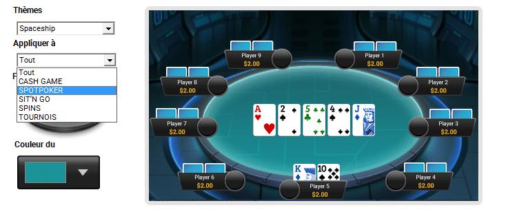 Paramètres poker PMU