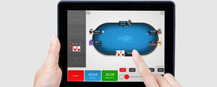 Jouer au poker sur l'application du PMU