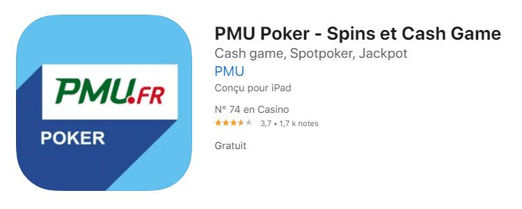 App poker pmu